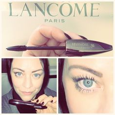 Opening my eyes with #lancome #hypnose #volumeaporter #mascara ❤️ The difference is here to see ☺️ #eyes #blueeyes #makeup #beautyblogger #missesbond #instabeauty