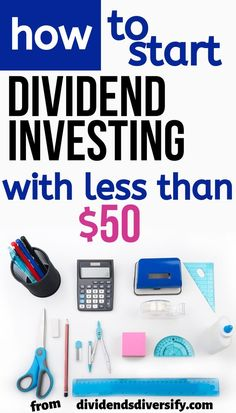 Start investing money for passive income from dividends with dividend stocks. Le… Start investing money for passive income from dividends Stock Market Investing, Investing In Stocks, Investing Money, Money Tips, Money Saving Tips, Money Budget, Managing Money, Money Hacks, Affiliate Marketing