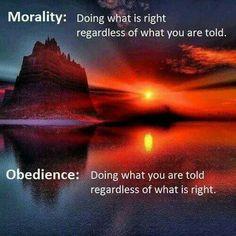 Morality versus obedience