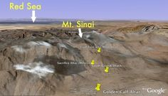 Mount Sinai Found: Discovery in Saudi Arabia. red sea, moses altar, guard building, mt sinai, golden calf altar