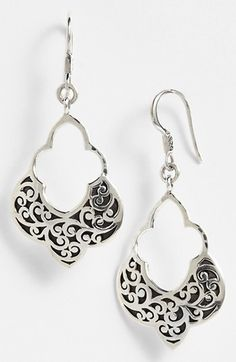 More cool jewelry - for day and evening. #My Day in Stich Fix - Pin to Win Contest Lois Hill Large Open Drop Earrings