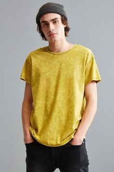 Feathers Franklin Washed Wide Neck Tee - Urban Outfitters