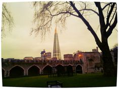 The Shard from the Tower of London at dusk
