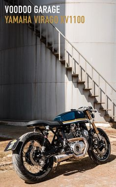 """There are a handful of motorcycles that became the poster children of the """"new wave"""" cafe racer scen Yamaha Virago, Honda Cb750, Virago Cafe Racer, Yamaha Cafe Racer, Yamaha Motorcycles, Honda S, Custom Motorcycles, Custom Bikes, Cafe Racers"""