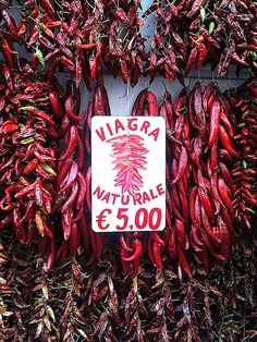 Amalfi, Italy - Peppers Viagra Naturale #Italy #funny