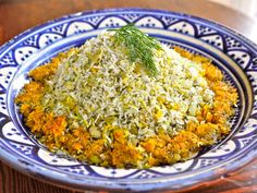 Persian Dill and Lima Bean Rice - Basmati rice with dill, lima beans and a crispy tahdig. Kosher, Pareve, Healthy, Vegan, Vegetarian, Gluten Free, Dairy Free. via @toriavey