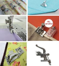 SUPER Kit 9 Calcadores P/ Acabamento Originais Sewing Kit, Love Sewing, Sewing Hacks, Quilting, Janome, Couture, Maternity Fashion, Scrapbook, Sewing Machine Accessories