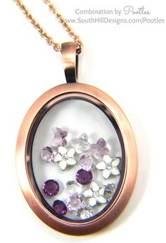 Pootles South Hill Designs - Vintage Oval Locket, Softly Softly.... close up