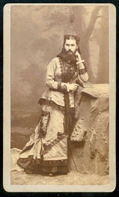 bearded woman, possibly Jane Devere