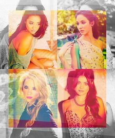 LOVE the colours! pretty little liars girls