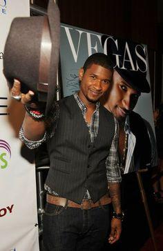 Usher vest hat vegas