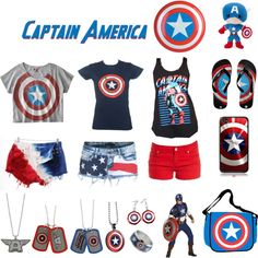 Captain America- not really digging the pants but the other merch is cool :)