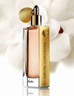 Cruel Gardenia by Guerlain is a sweet, powdery and balsamic, white Floral fragrance with neroli, rose and peach in the top. Gardenia, ylang-ylang and violet are in the middle. And musk, sandalwood, tonka and vanilla are in the base. - Fragrantica X