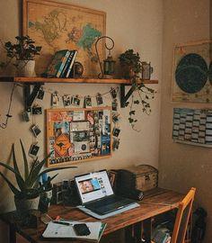 User image found ♡ E M M A ♡. - vintage room decor - User image found ♡ E M M A ♡. On… – Vintage room decor, - Bedroom Desk, Modern Bedroom, Budget Bedroom, White Bedroom, Bedroom Vintage, Bedroom Inspo, Contemporary Bedroom, Trendy Bedroom, Vintage Dorm Decor