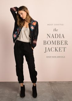 MOST COVETED: THE NADIA BOMBER JACKET. #johnnywas