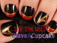 IHaveACupcake- Star Trek Nails @Kelly Darnell