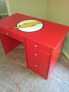 DIY Super Hero Kids Bedroom In batman instead Kids Furniture, Painted Furniture, Bedroom Furniture, Furniture Design, Ideas Decorar Habitacion, Superhero Room, New Room, Kids Bedroom, Bedroom Ideas