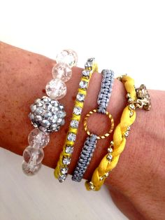 You Are My Sunshine Wrist Party Set by dAnnonEtsy on Etsy  LOVE!