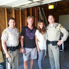 Called the police to come take Amie away after I heard her renovations plans for the house, but they agreed with her. #FlippingVegas