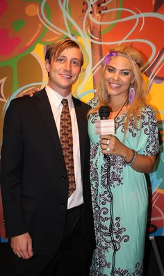 Michael Doyle and Host Erica Moore at Julien's Auctions in Beverly Hills - Banksy auction. Interview Link attached!