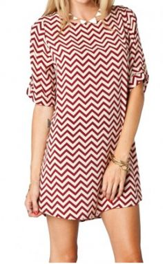 Aggie chevron dress....with black tights and brown tall boots for the winter!