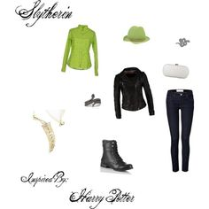 """Slytherin"" by pheonix-sparks on Polyvore"