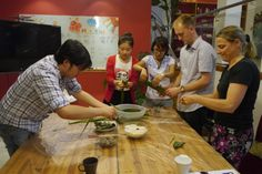 Startup China #interns learning to make zongzi 粽子, a traditional Dragon Boat Festival Snack www.startupchina.com
