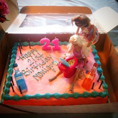 My 21st Drunk Barbie Cake! @courtniet this might've been more appropriate for my bday! Hahaha