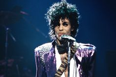 Prince performing on stage duringPurple Rain tour in 1984.