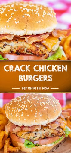 INGREDIENTS: 1 lb ground chicken 1 package Ranch dressing mix cup cooked and crumbled bacon 1 cup shredded cheddar c. Grilled Chicken Burgers, Chicken Sandwich Recipes, Best Chicken Recipes, Burger Recipes, Chicken Ideas, Crack Chicken, Baked Chicken, Garlic Chicken, Keto Chicken