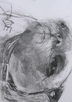 'Hedley Head Study' Original Charcoal by Valerie Davide - Mounted £225