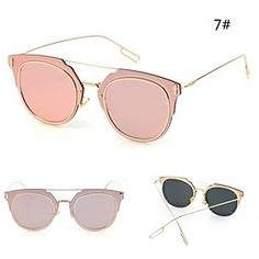 100% UV400 Women's Aviator Sunglasses