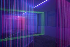 Light Thread Installations by Jeongmoon Choi(viaIt's Nice That)