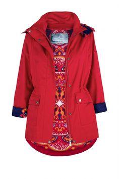 Krótki płaszcz - czerwony