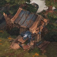Hand painted environment - Wood house - Page 6 - Polycount Forum