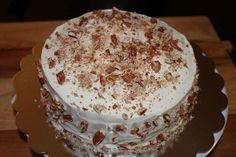 Pecan encrusted carrot cake