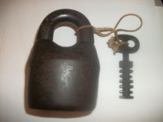 This is an old Scandinavian jailhouse lock and key....