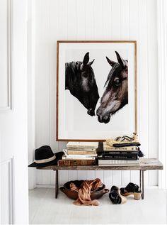 The Design Files Courtney Adamo – Kara Rosenlund Kara Rosenlund, Decoration Entree, Equestrian Decor, Equestrian Style, Horse Print, The Design Files, Prints For Sale, Scandinavian Style, Interior Inspiration