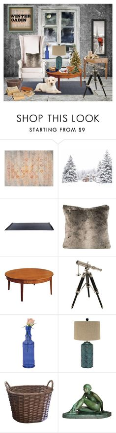 """ Winter Cabin Decor "" by catyravenwood ❤ liked on Polyvore featuring interior, interiors, interior design, home, home decor, interior decorating, Safavieh, Thos. Moser, IMAX Corporation and Cultural Intrigue"