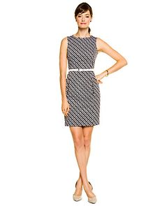 Some of you have to get in on this: Anne Klein Black  White Print Belted Dress