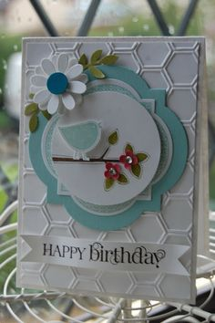 Stampin'spiration: Best of Everything for a Happy Birthday--honeycomb embossing folder