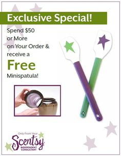 Get your Exclusive Special by shopping with me at www.thescentemporium.scentsy.us. Thank you.