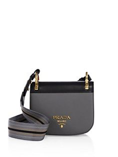 Prada - Pionnière Leather Saddle Bag