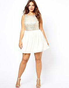 ASOS CURVE Exclusive T-Shirt Dress With Patchwork Floral #plussize