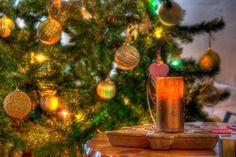 Candles and Christmas Tree & Balls Balls, Christmas Tree, Candles, Table Decorations, Home Decor, Teal Christmas Tree, Decoration Home, Room Decor, Xmas Trees