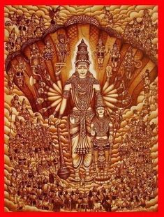 Bhagwan Vishnu in the form of ultimate reality of life, death, dimensions, cosmic stage with force of pure (shudh) shakti