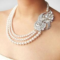 Art Deco Wedding Necklace Statement Bridal Necklace by luxedeluxe by Vonda 24