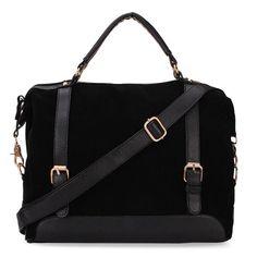 Women Handbag Nubuck Leather Vintage Shoulder Bag