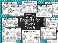 One of my students' very FAVORITE enrichment activities is our monthly STEM Family Projects! In fact, it's the only homework I've ever assigned that my kids actually BEG for! Enrichment Activities, Steam Activities, Science Activities, Science Experiments, Science Ideas, Stem Science, Teaching Science, Stem Teaching, Physical Science