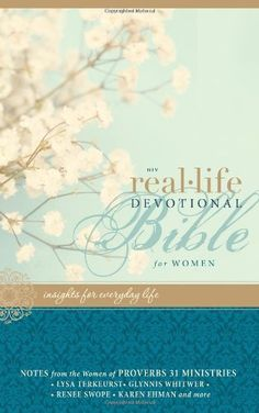 NIV Real-Life Devotional Bible for Women: Insights for Everyday Life by Lysa TerKeurst,http://www.amazon.com/dp/0310439361/ref=cm_sw_r_pi_dp_wMGlsb052BYG3NKQ